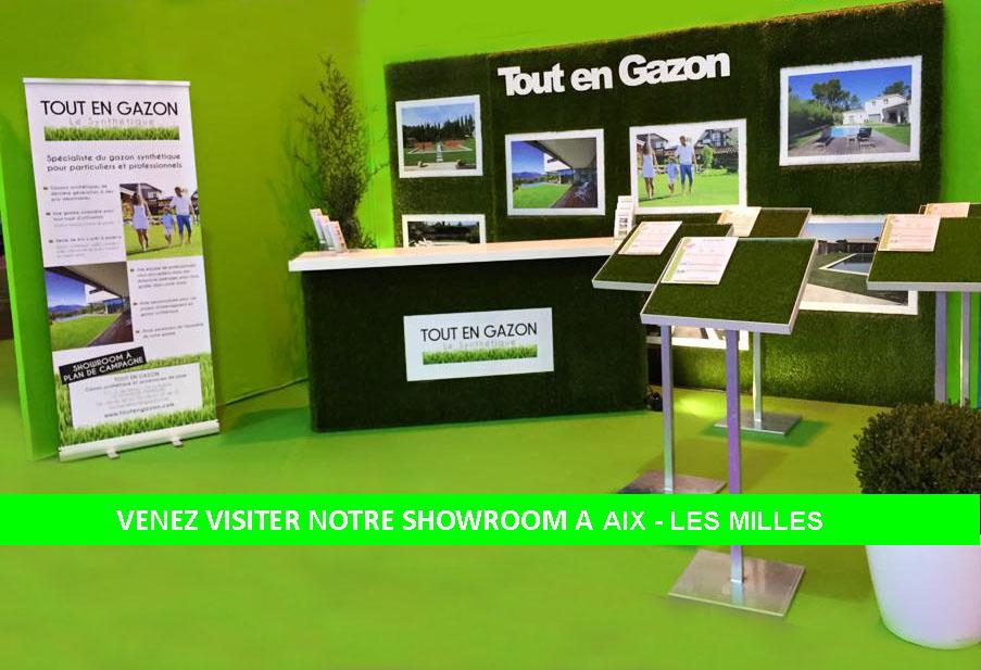 showroom gazon synthetique plan de campagne